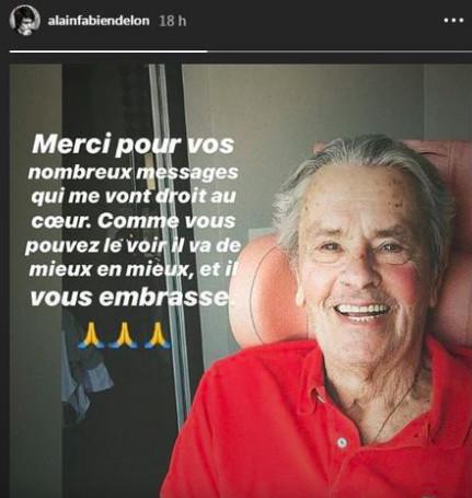 Photo: capture Instagram Alain Fabien Delon