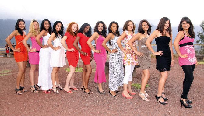 Miss Plaine des Cafres 2012, Les 12 candidates