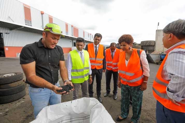 Visite du Ministre de l'environnement, de la gestion des déchets et du changement climatique de Maurice à La Réunion