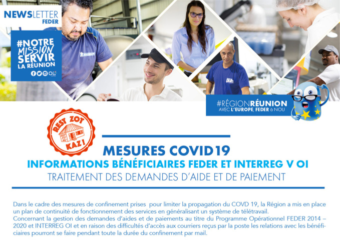 Informations bénéficiaires FEDER et INTERREG V OI