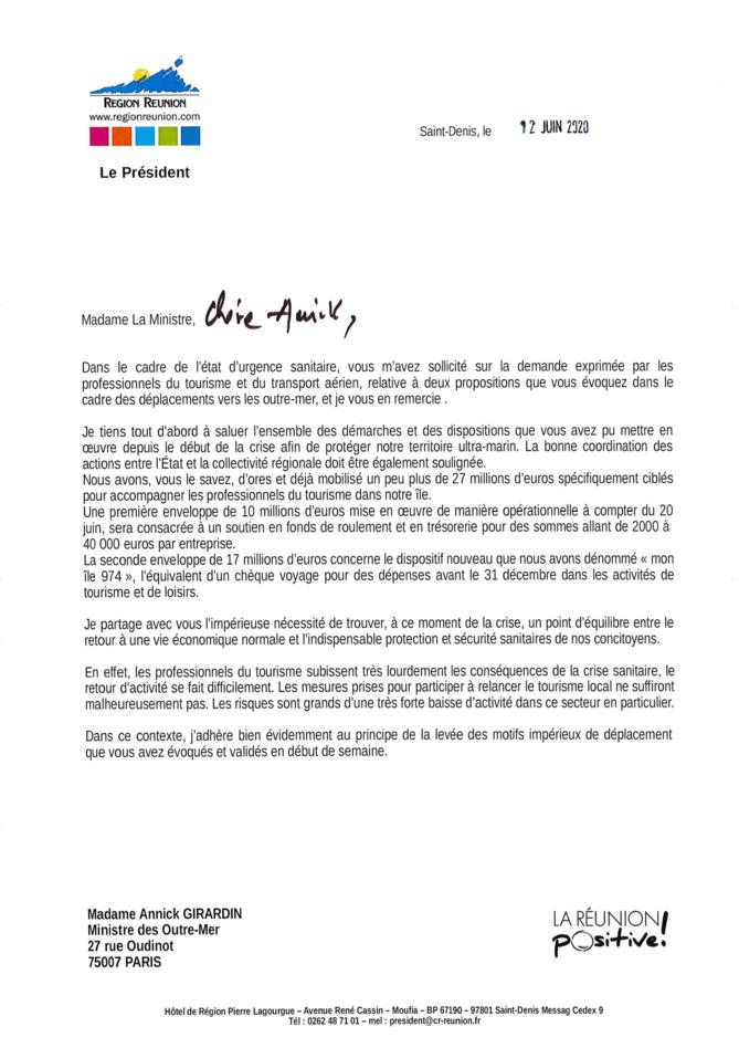 Crise du tourisme à La Réunion : Didier ROBERT interpelle la Ministre des outre mer