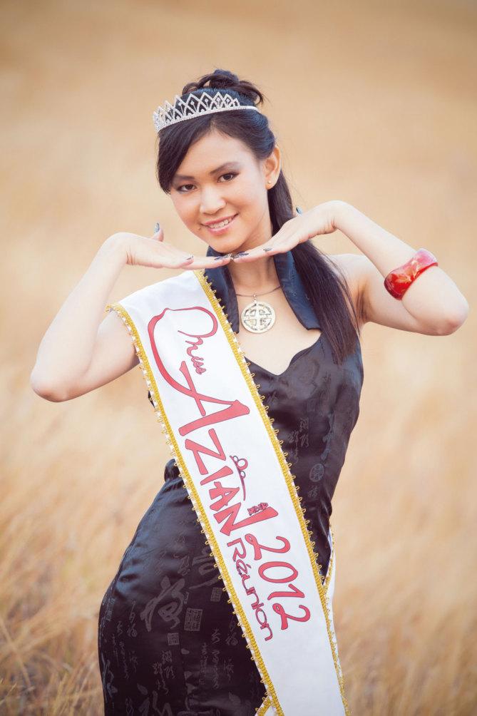 Audrey Woon-Shoo-Tong,  Miss Azian 2012, La Chine coule dans ses veines
