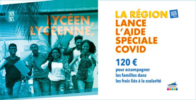 Lycéen, Lycéenne, La Région lance l'aide spéciale COVID