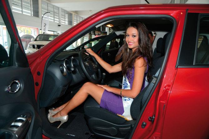 Miss Réunion 2012, Stéphanie  a eu sa Nissan Juke!