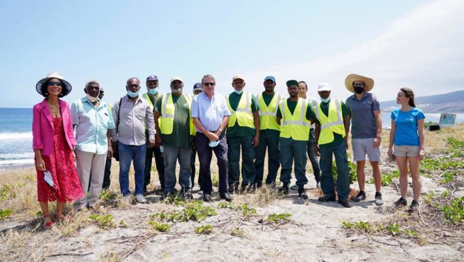 La Région, le CEDTM, Kélonia et les Emplois Verts réhabilitent des sites de ponte de tortues marines