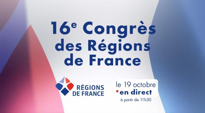 16ème Congrès des Régions en ligne : Les Régions, QG de la reconstruction