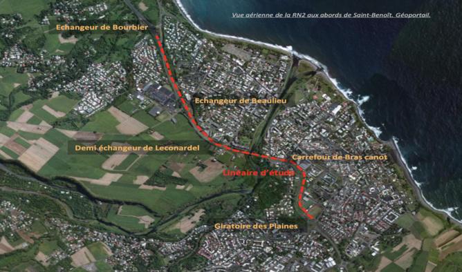 Réaménagement de la RN2 à Saint-Benoit - Concertation préalable du public