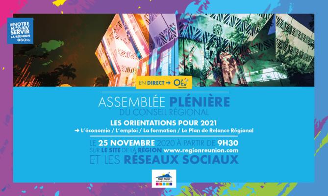 Orientations Budgétaires 2021 : Assemblée Plénière du 25 novembre 2020