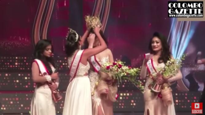 L'ex Miss arrache la couronne de Miss World Sri Lanka: blessure et rebondissement