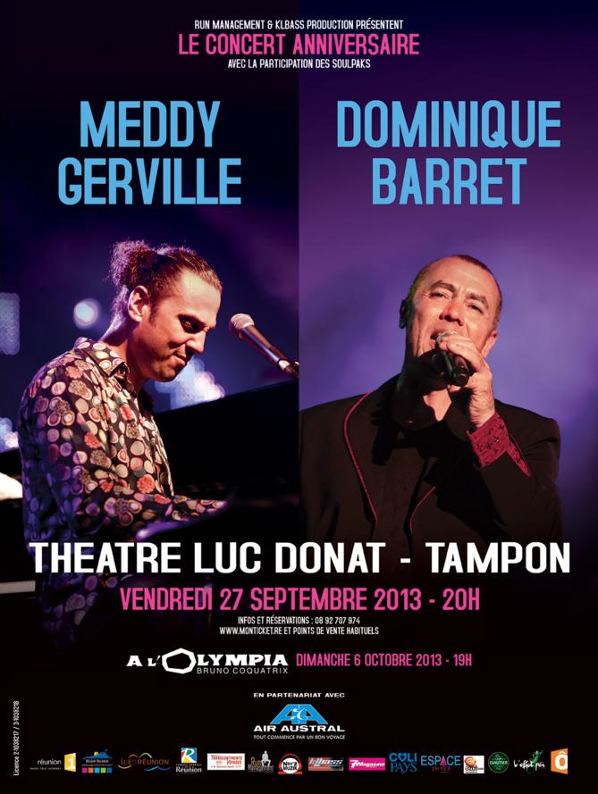 Luc Donat avant l'Olympia pour Meddy Gerville et Dominique Barret