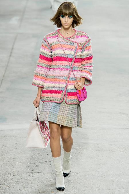 Et sur le défilé Chanel à Paris, Printemps Eté 2014