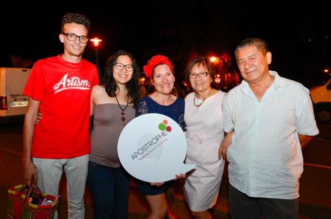 Guillaume, Emilie, Julie Casterman, Elise et Jean Ah-Voune