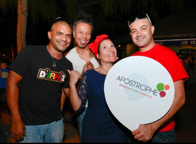 Giloo, Jérémie, Julie Casterman, et Alex Sorres du Studio Box Records