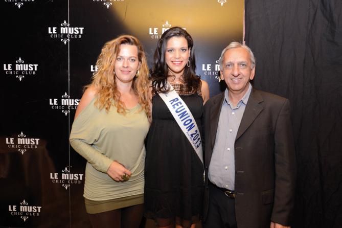 Sarah Hugon, Vanille et Aziz Patel, du Comité Miss Réunion
