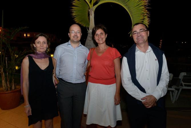 Carine Criou, responsable entreprise BR Ouest, Laurent Metzger, administrateur de Mascarin et directeur de FINAREA, et Frédéric Auché, PDG de Mascarin