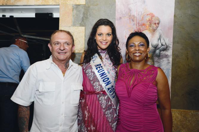 Jean-Luc et Magalie Vallaud, les propriétaires du Monté Christo, avec Vanille M'Doihoma, Miss Réunion 2013