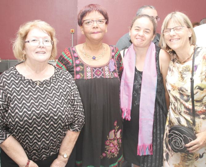 Nicole Monnot, Dominique Dambreville, Marthe Dambreville,  et Pascale Jourdain, trésorière de l'AMOPA