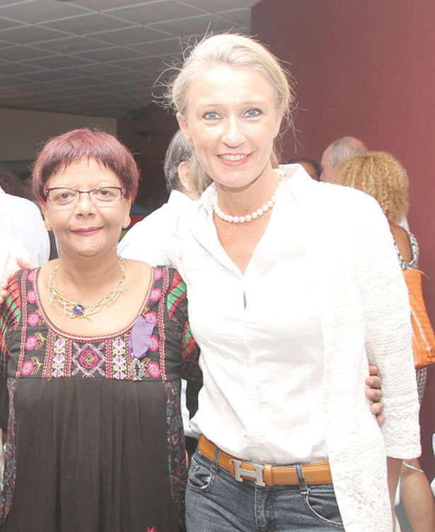 Dominique Dambreville  et Catherine Ronin de 7 Magazine