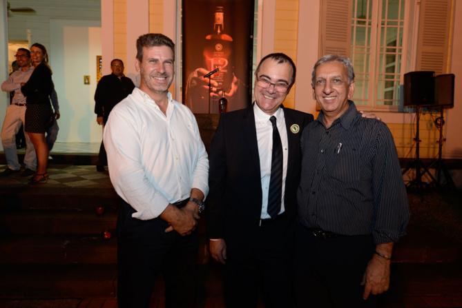 Gilles Couapel, PDG de Domeau, Frédéric Auché,  et Aziz Patel de 7 Magazine