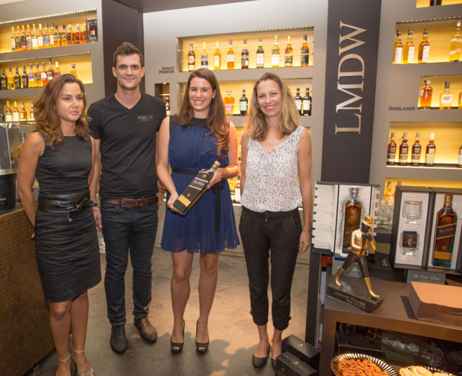 Martine Poudroux, Whisky Brand Manager, Ludovic Gueniot,  Responsable La Maison Du Whisky,  Stéphanie Jordan,  Brand Ambassador Gamme Reserve et Karine Duclos, Diageo Marketing Manager