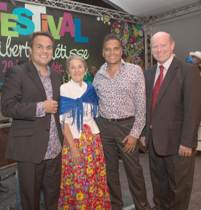Didier Robert, Bernadette Ladauge,  Karl Mootoosamy et Alain St Ange