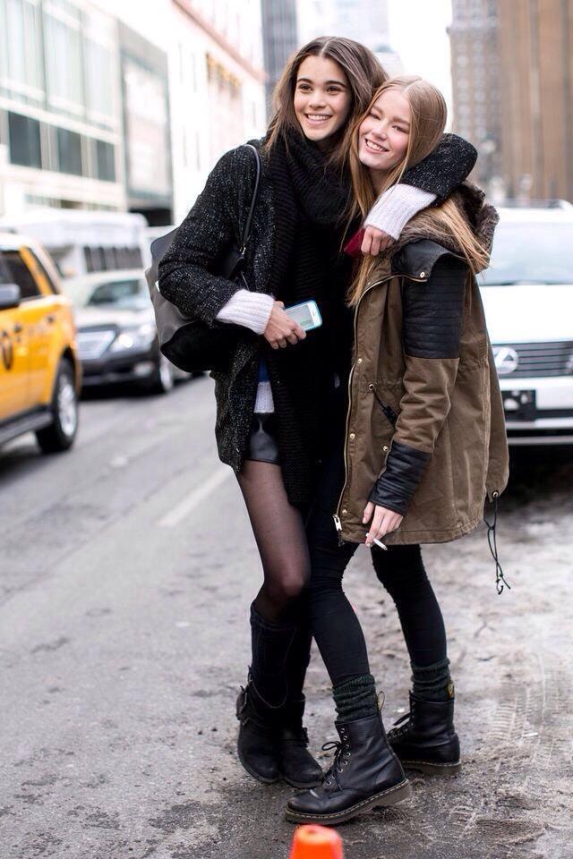 Dans les rues de New-York avec une amie mannequin