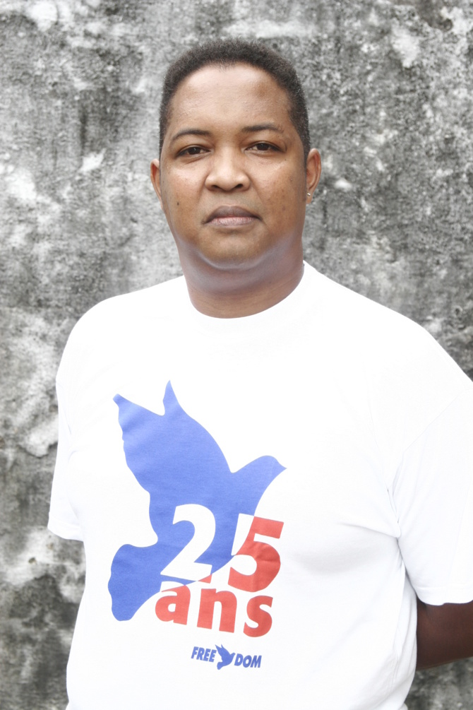 Francky, animateur sur Radio Freedom.