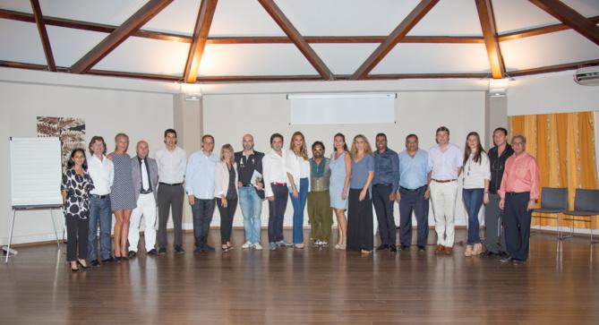 Le jury...20 membres entourés par Amida Hussein-Ghanty et Aziz Patel