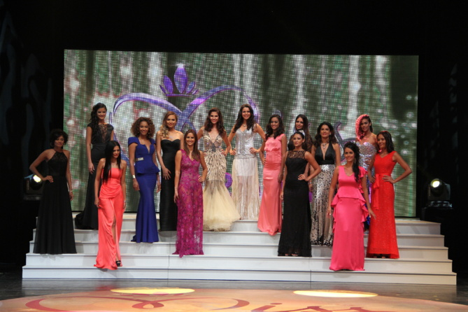 Un tableau exceptionnel de 15 ex Miss Réunion.