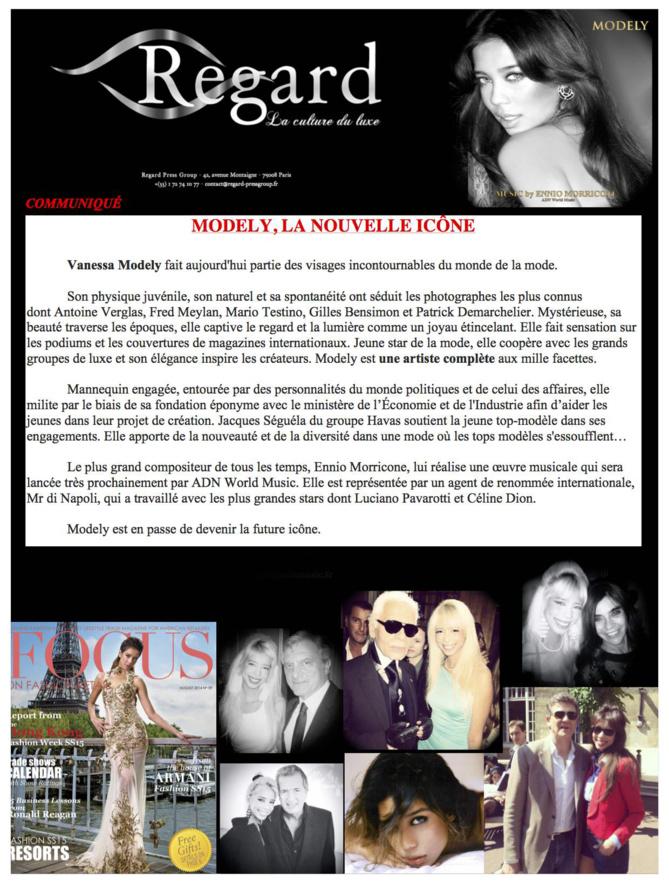 Vanessa Modely en Une de Focus