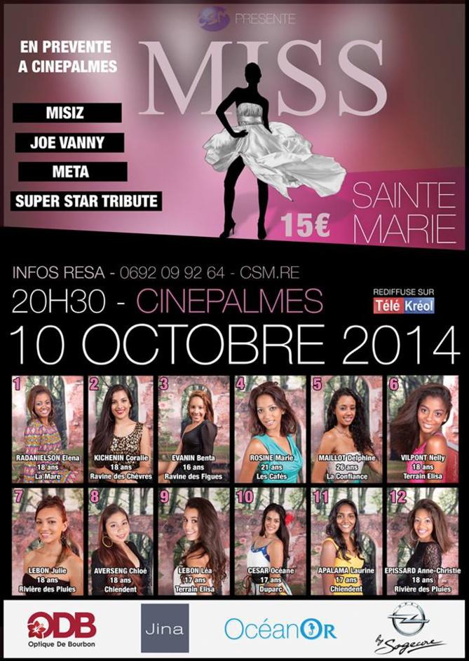 Miss Sainte-Marie: les 12 candidates