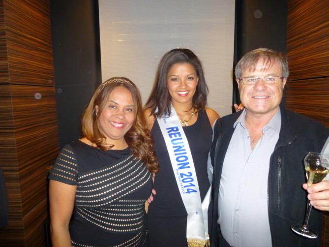 Martine Besson, expert comptable, Miss Réunion et Jean-Paul Odin, expert comptable à la retraite