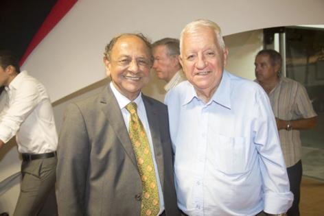 Abdéali Goulamaly, président Océinde, et Maurice Cérisola, président Réunion Économique