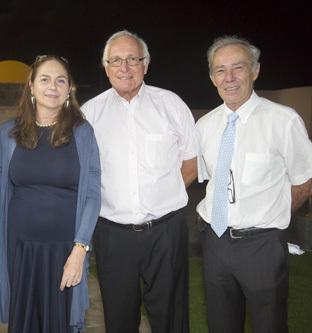 Françoise Delmont de Palmas, Bernard Petin, président de Réunion Active, et Patrick Guillaumin