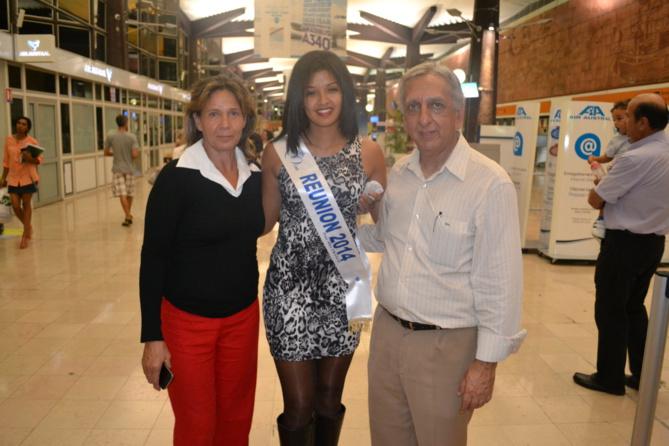 Laurie Mercredi, Ingreed, et Aziz Patel, délégué Miss France