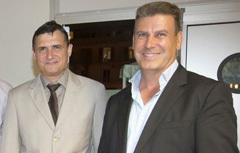 Jérôme Isautier, Gilles Couapel, trésorier-adjoint de l'Adir et président de Dom'Eau