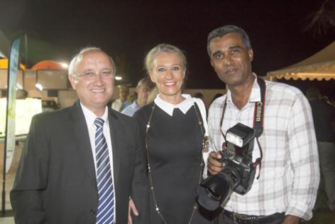 Patrick Bijoux de Visu, Catherine Ronin, et Wilfrid Daffont, photographe