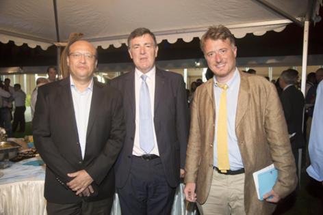 Frédéric Alory, Jean-Pierre Philibert, Philippe Mouchard, délégué général de la Fedom