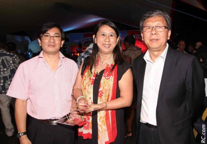 Daniel Thiaw-Wing-Kaï, son épouse Nathalie et Alex How Chong