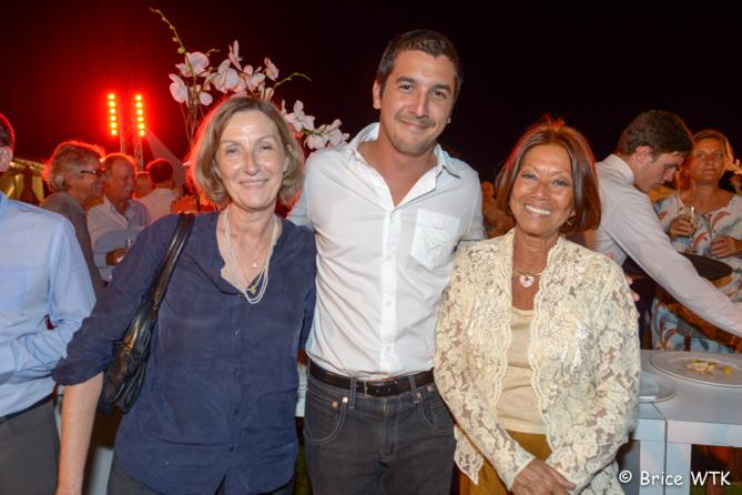 Catherine Gaud, Yanis Dargaud, directeur du Village Bienvenue et Margie Sudre