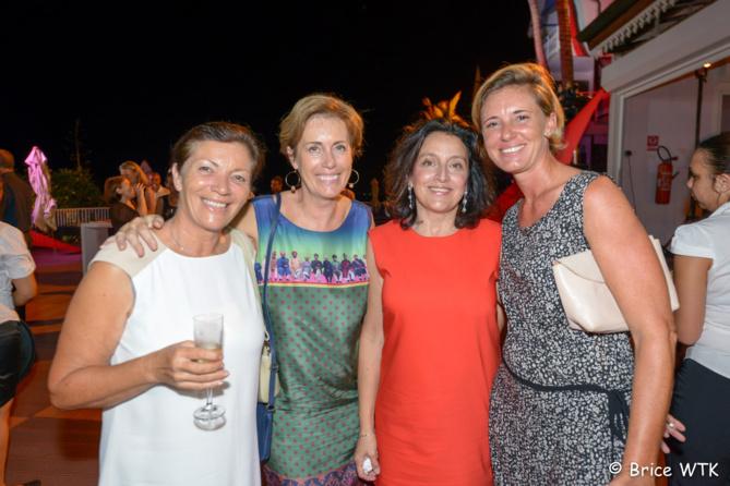 Denise Pétin,Caroline Gaudel, responsable de la communication de la SRR,Elisabeth Guillot et Alexandra de Lavigne
