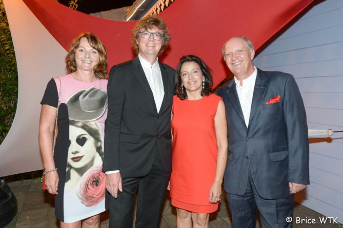 Isabelle et Eric Bouquillon, Elisabeth et Bertrand Guillot