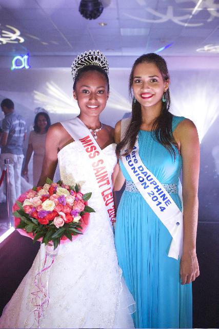 Djémila Turban, Miss Saint-Leu, et Anne-Gaëlle Laterrière, 1ère dauphine Miss Réunion