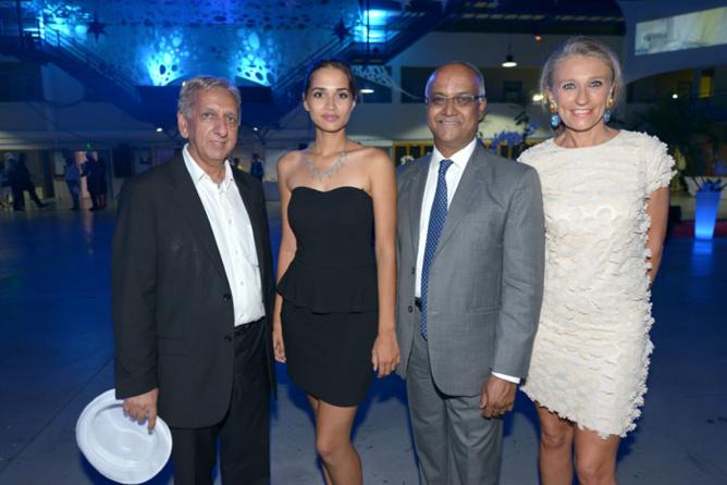 Aziz Patel, Anne-Gaëlle Latterière, Marie-Joseph Malé, et Catherine Ronin de 7Magazine