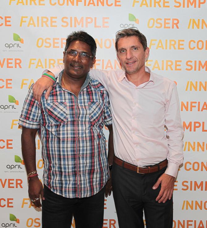 Bernard Soupou, directeur de COI Assurances, et  Michel Petiot