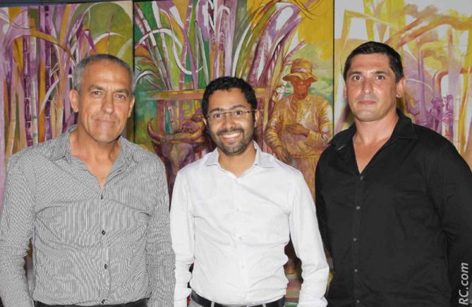 Les représentants AGEFOS Réunion: Bernard Payet, et Brice Virginius, directeur AGEFOS