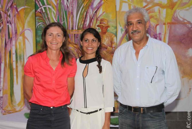 Virginie K/Bidy, Maryse Doki-Thonon, de la Région Réunion, et Azeddine Bouali