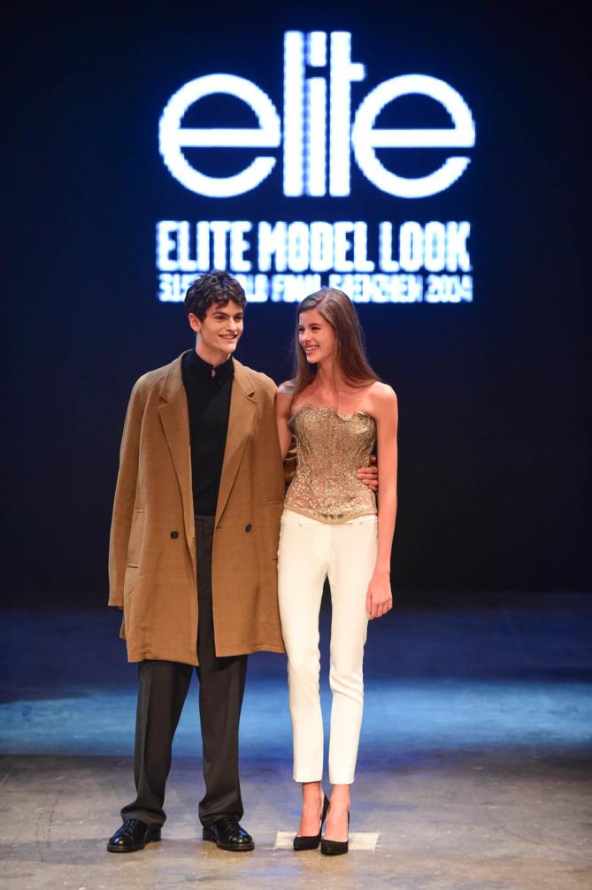 Les deux grands gagnants très émus: l'Italien James, et la Tchèque Barbora