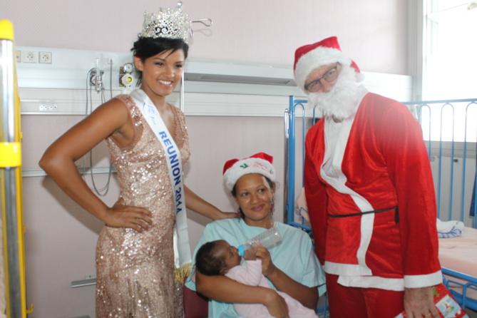 Miss Réunion et le Père Noël à l'hôpital <br> Sourires pour les enfants malades