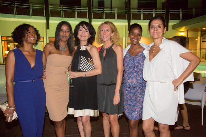 Renée Fages, Suzanne, Cathy Foucher, Isabelle Bassat, Saida Soubelu, et Catherine Payet